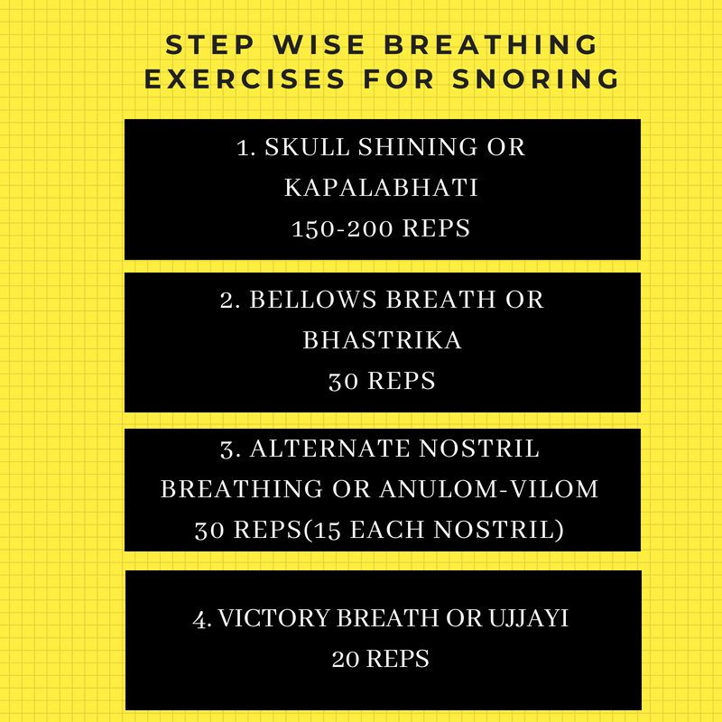 Stop Snoring with breathing exercises