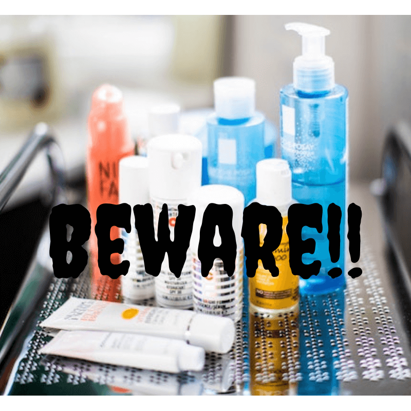 beware of skincare chemicals