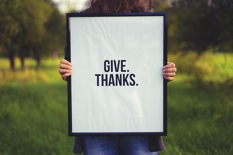 daily gratitude list- say thankyou