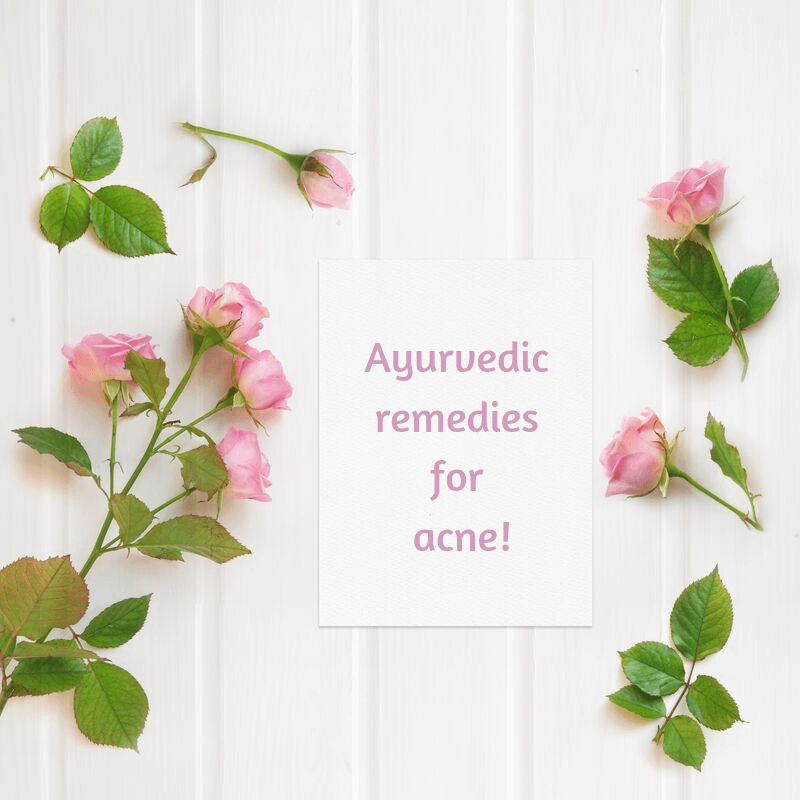 Ayurvedic remedies for acne featured