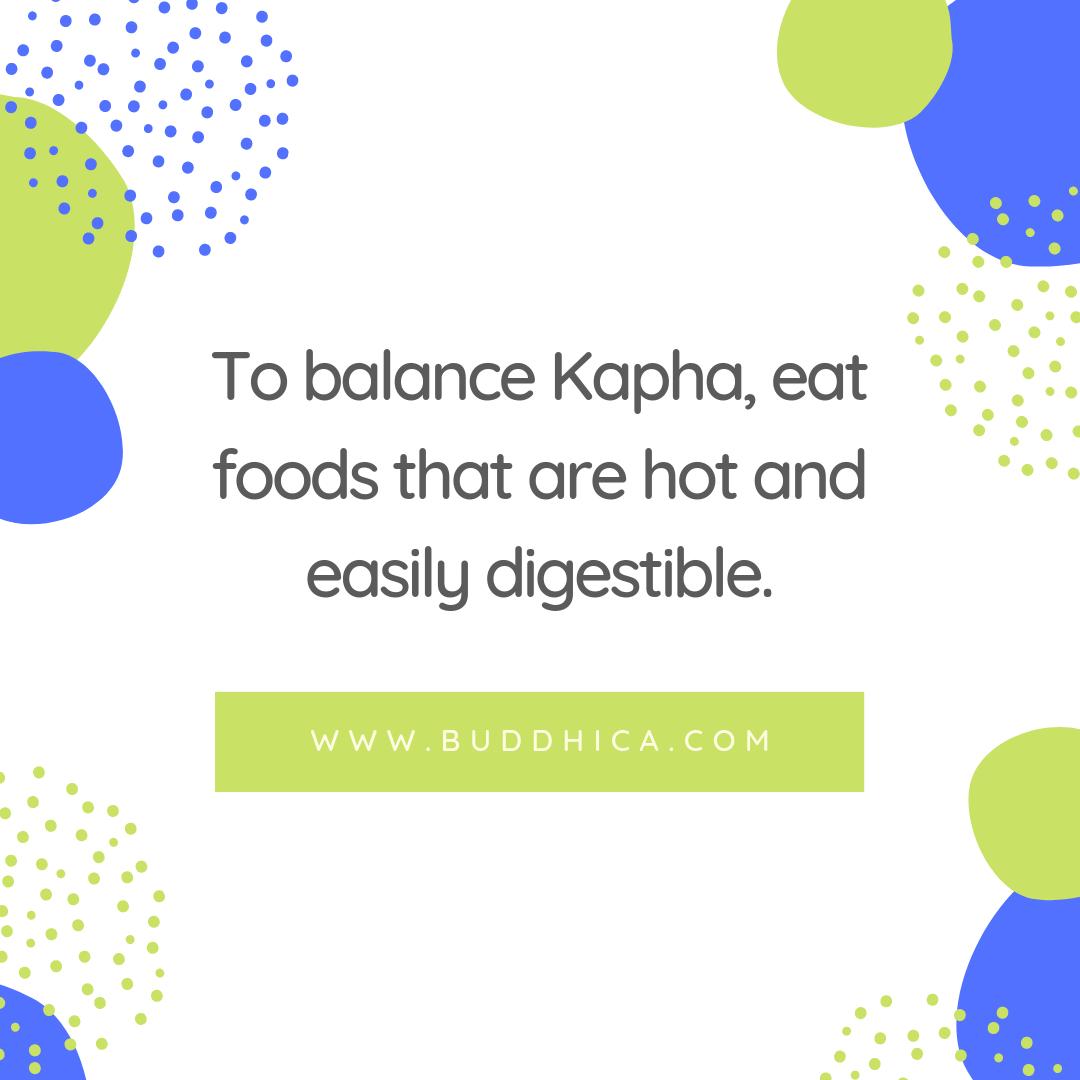 Kapha balancing